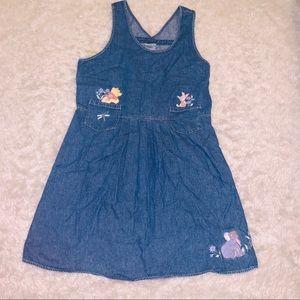 Vintage denim jean dress Winnie the Pooh S Disney